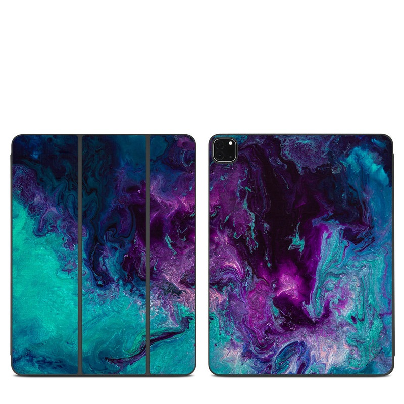 iPad Pro 12.9-inch Smart Folio Skin design of Blue, Purple, Violet, Water, Turquoise, Aqua, Pink, Magenta, Teal, Electric blue with blue, purple, black colors