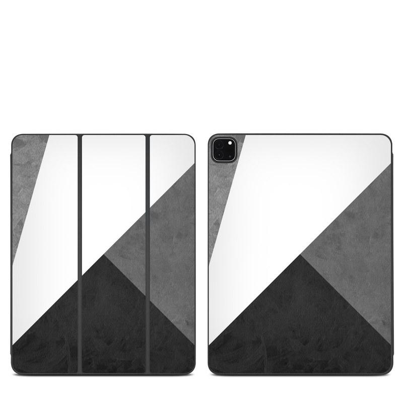 iPad Pro 12.9-inch Smart Folio Skin design of Black, White, Black-and-white, Line, Grey, Architecture, Monochrome, Triangle, Monochrome photography, Pattern with white, black, gray colors
