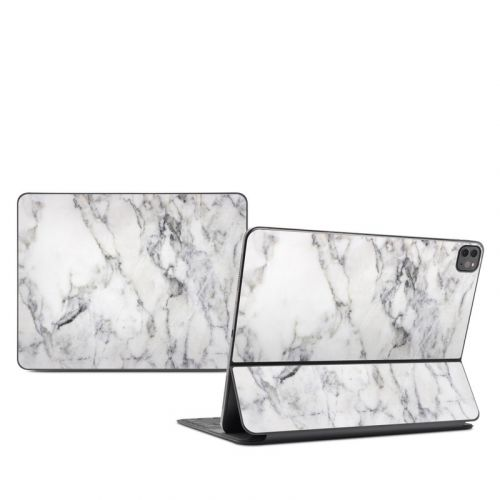 White Marble iPad Pro 12.9-inch Smart Keyboard Folio Skin