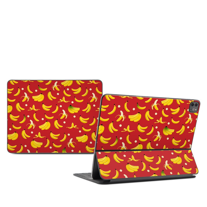 iPad Pro 12.9-inch Smart Keyboard Folio Skin design of Yellow, Orange, Pattern, Textile, Font, Design, Wrapping paper with red, yellow, black, green colors