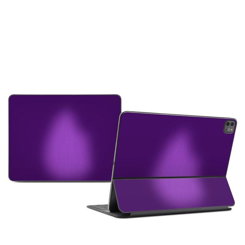 iPad Pro 12.9-inch Smart Keyboard Folio Skin design of Violet, Purple, Lilac, Pink, Magenta, Wallpaper with black, purple, blue colors