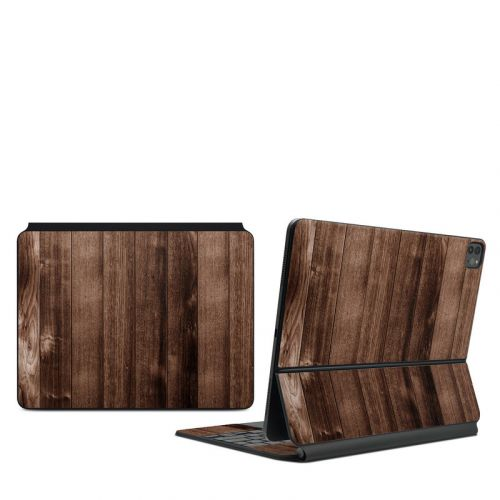 Stained Wood iPad Pro 12.9-inch Magic Keyboard Skin