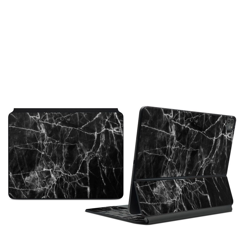 iPad Pro 12.9-inch Magic Keyboard Skin design of Black, White, Nature, Black-and-white, Monochrome photography, Branch, Atmosphere, Atmospheric phenomenon, Tree, Sky with black, white colors