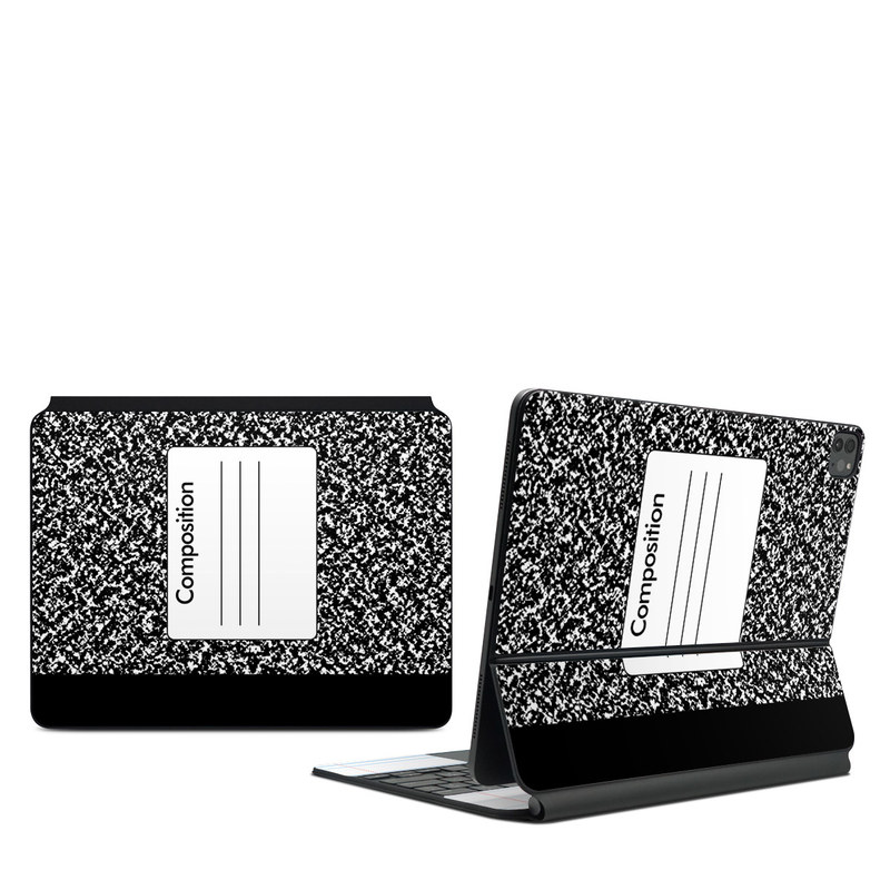 iPad Pro 12.9-inch Magic Keyboard Skin design of Text, Font, Line, Pattern, Black-and-white, Illustration with black, gray, white colors