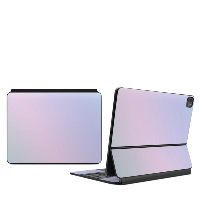 iPad Pro 12.9-inch Magic Keyboard Skin design of White, Blue, Daytime, Sky, Atmospheric phenomenon, Atmosphere, Calm, Line, Haze, Fog with pink, purple, blue colors