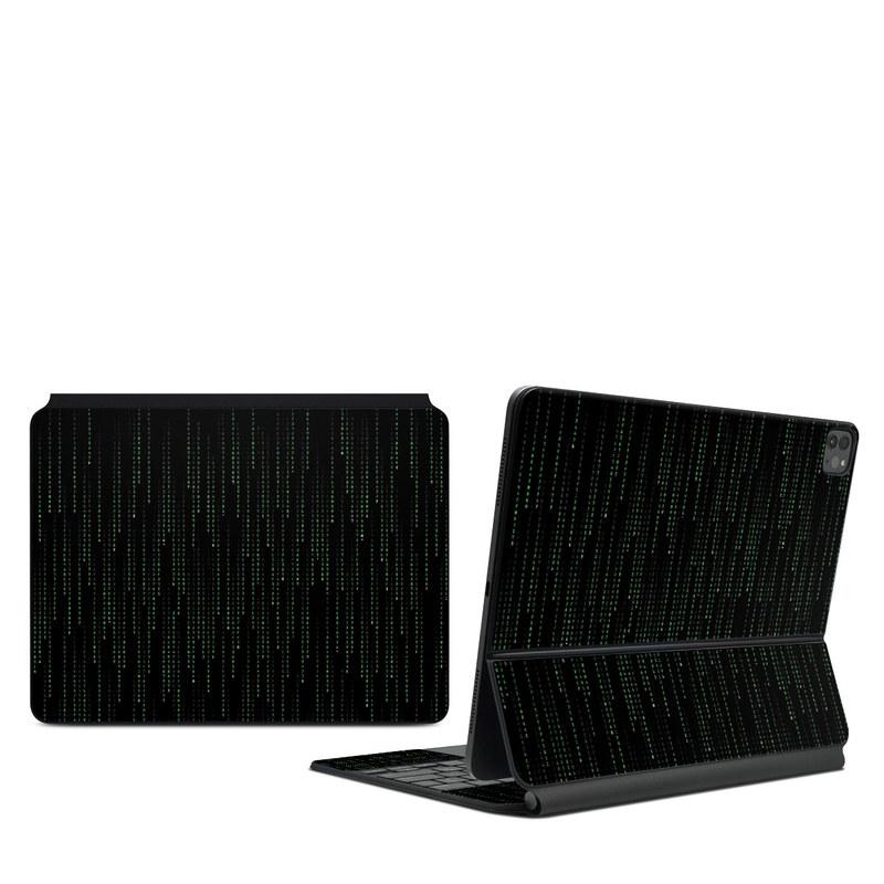 iPad Pro 12.9-inch Magic Keyboard Skin design of Green, Black, Pattern, Symmetry with black colors