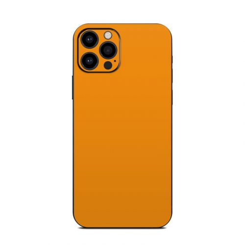 Solid State Orange iPhone 12 Pro Skin