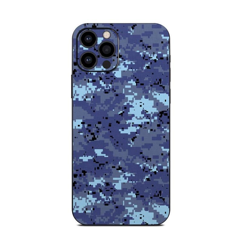 iPhone 12 Pro Skin design of Blue, Purple, Pattern, Lavender, Violet, Design with blue, gray, black colors