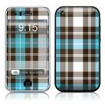 Turquoise Plaid iPhone 3GS Skin