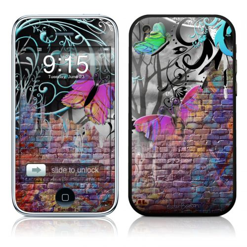 Butterfly Wall iPhone 3GS Skin