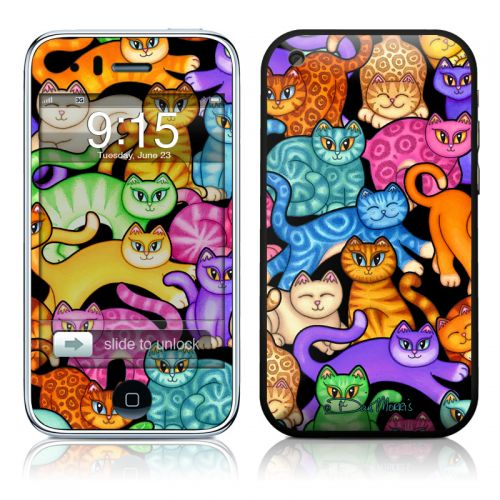 Colorful Kittens iPhone 3GS Skin
