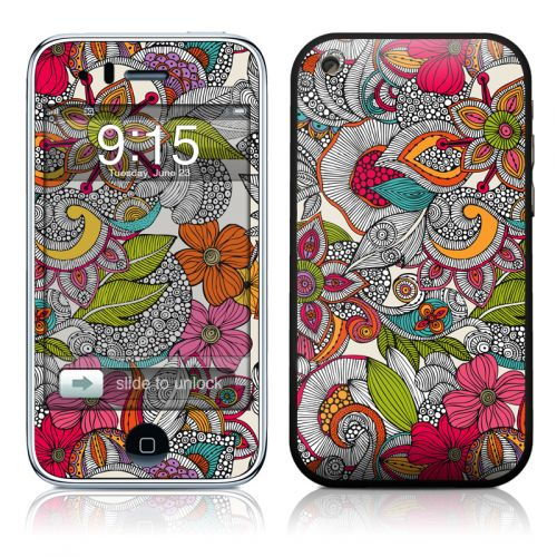 Doodles Color iPhone 3GS Skin