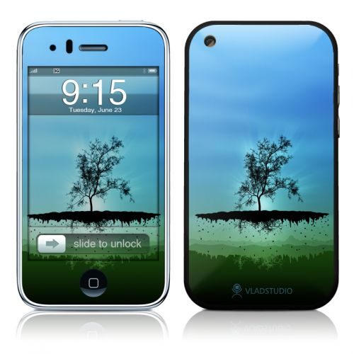 Flying Tree Blue iPhone 3GS Skin
