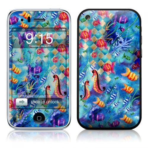 Harlequin Seascape iPhone 3GS Skin