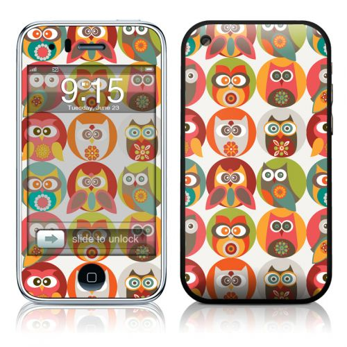 Owls Family iPhone 3GS Skin
