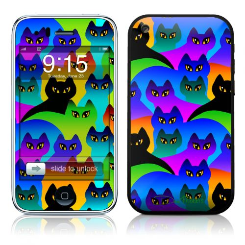 Rainbow Cats iPhone 3GS Skin