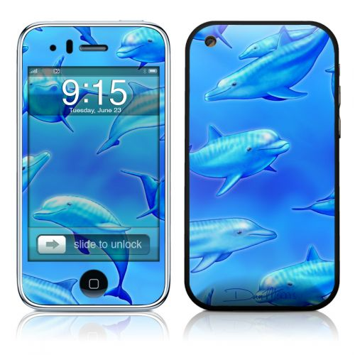 Swimming Dolphins iPhone 3GS Skin