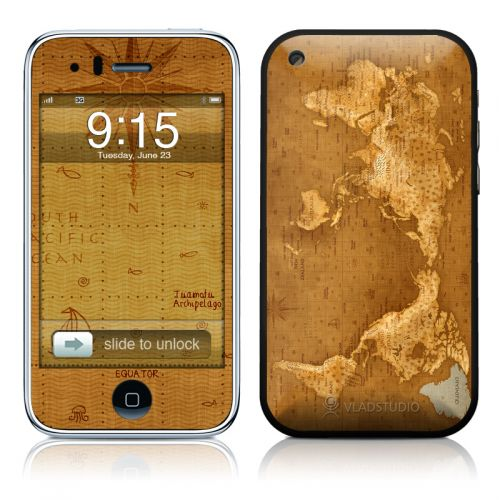 Upside Down Map iPhone 3GS Skin