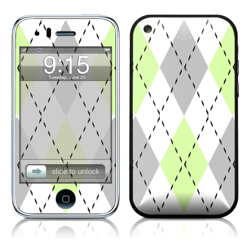 Mint Argyle iPhone 3GS Skin