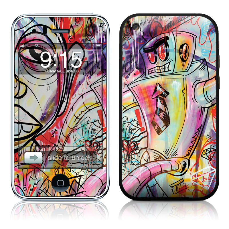 Battery Acid Meltdown iPhone 3GS Skin