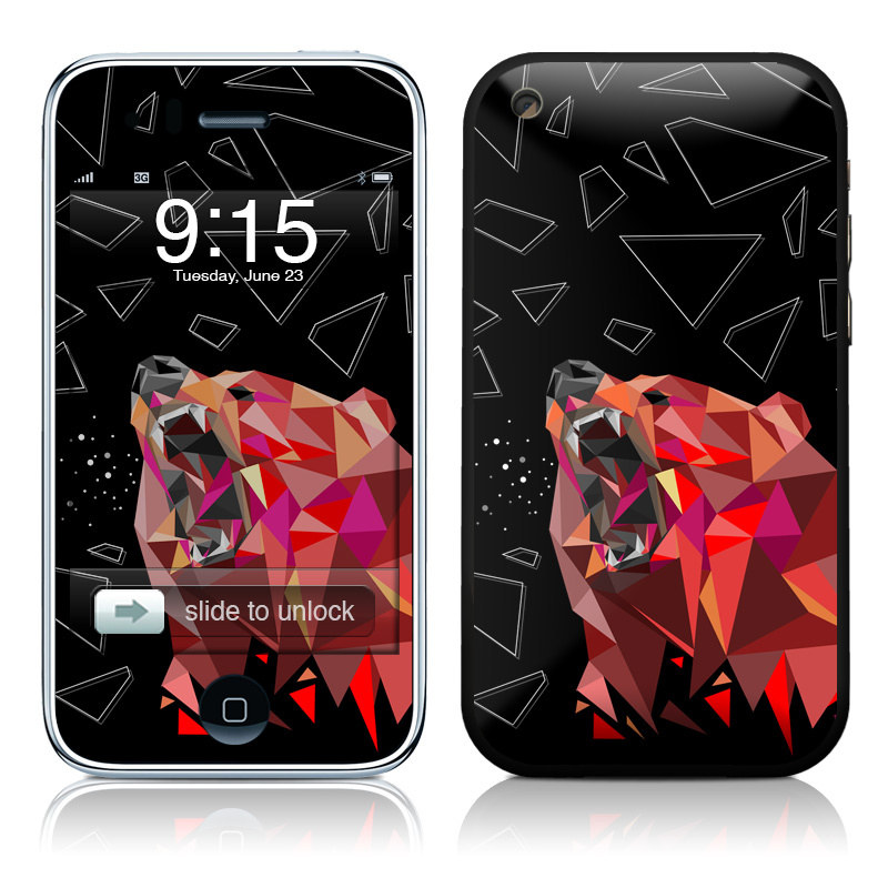 iPhone 3GS Skin design of Graphic design, Triangle, Font, Illustration, Design, Art, Visual arts, Graphics, Pattern, Space with black, red colors