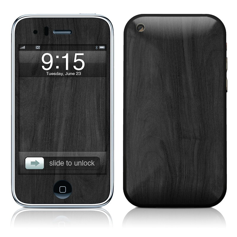 Black Woodgrain iPhone 3GS Skin
