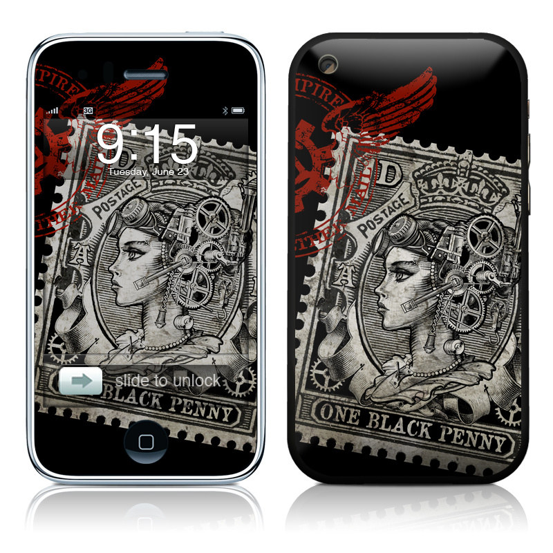 Black Penny iPhone 3GS Skin