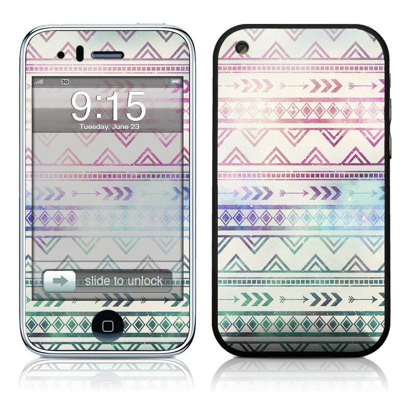 iPhone 3GS Skin design of Pattern, Line, Teal, Design, Textile with gray, pink, yellow, blue, black, purple colors