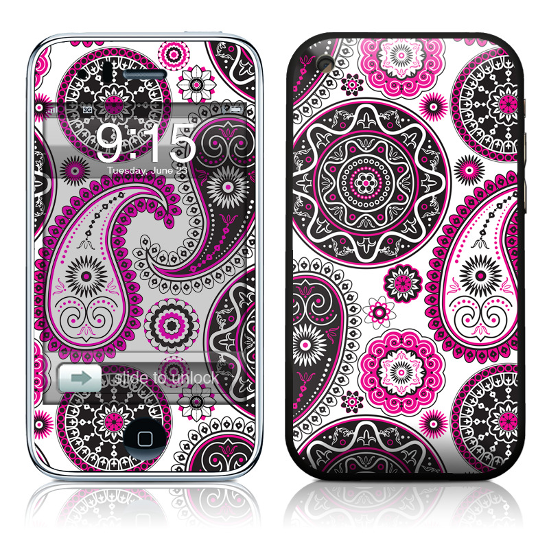 Boho Girl Paisley iPhone 3GS Skin