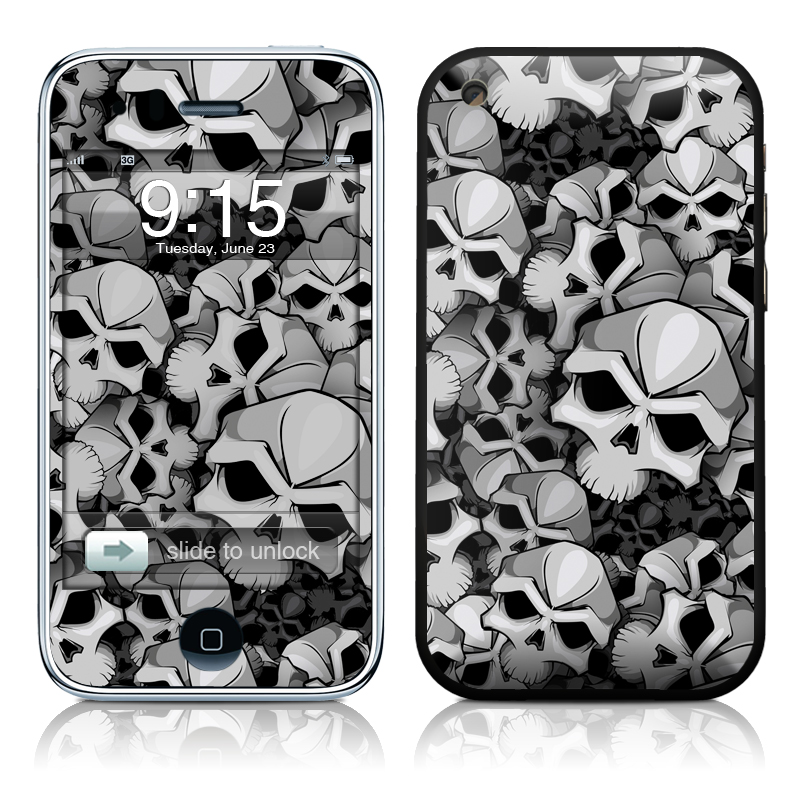 iPhone 3GS Skin design of Pattern, Black-and-white, Monochrome, Ball, Football, Monochrome photography, Design, Font, Stock photography, Photography with gray, black colors