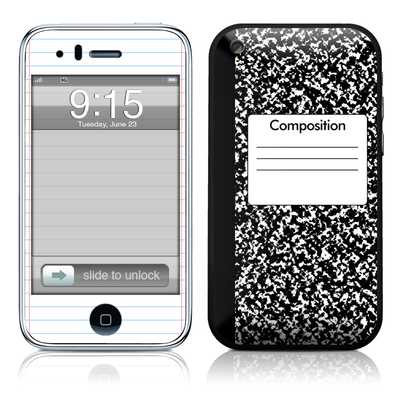 Composition Notebook iPhone 3GS Skin