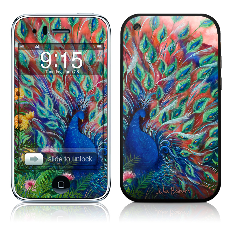 Coral Peacock iPhone 3GS Skin