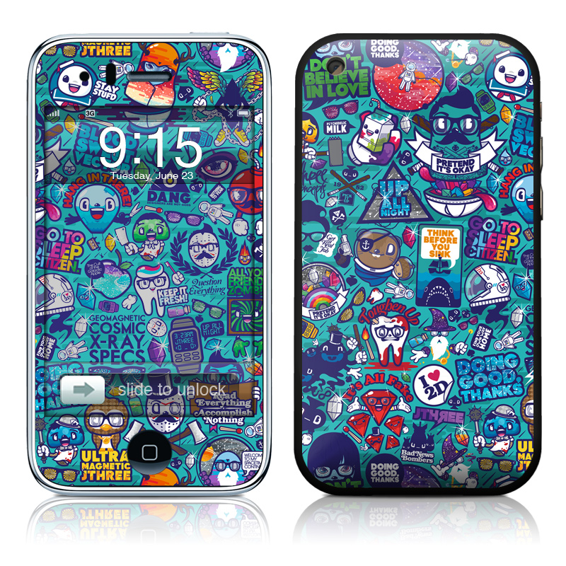 Cosmic Ray iPhone 3GS Skin
