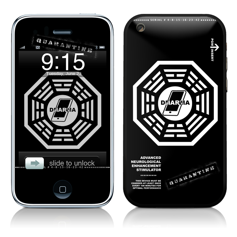 Dharma Black iPhone 3GS Skin