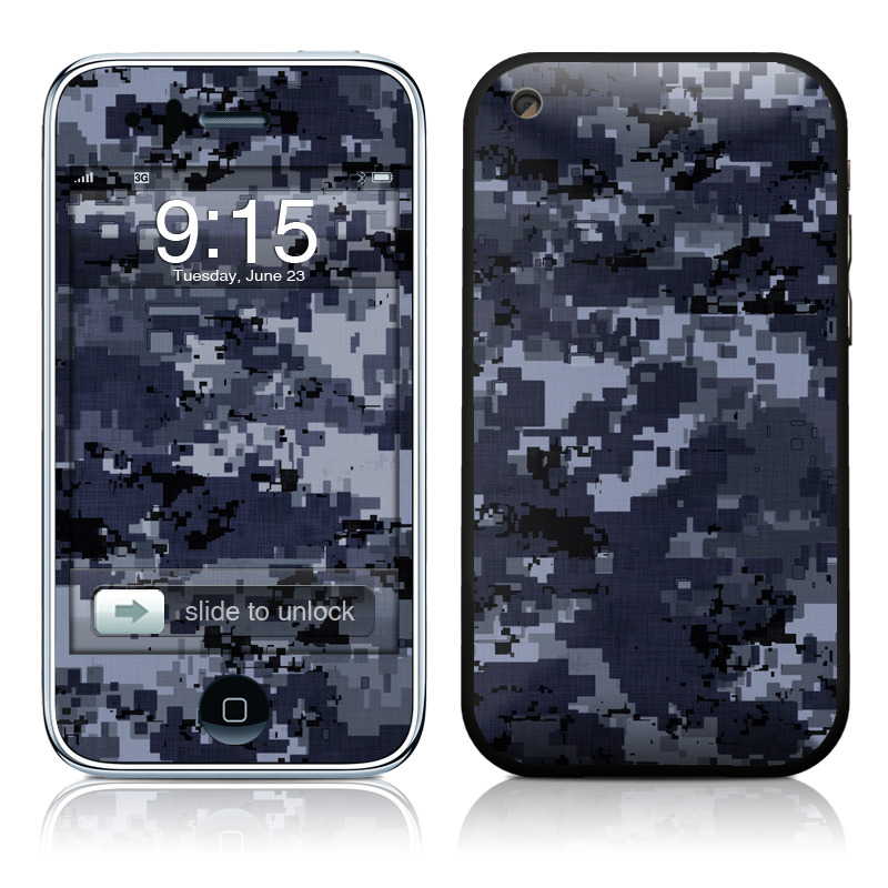 iPhone 3GS Skin design of Military camouflage, Black, Pattern, Blue, Camouflage, Design, Uniform, Textile, Black-and-white, Space with black, gray, blue colors