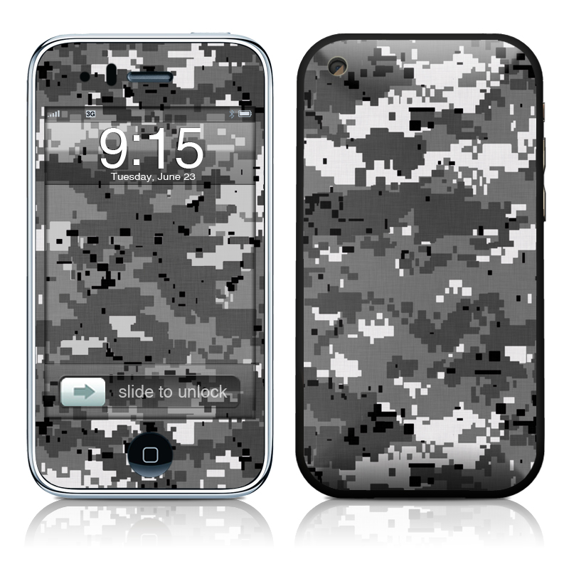 iPhone 3GS Skin design of Military camouflage, Pattern, Camouflage, Design, Uniform, Metal, Black-and-white with black, gray colors