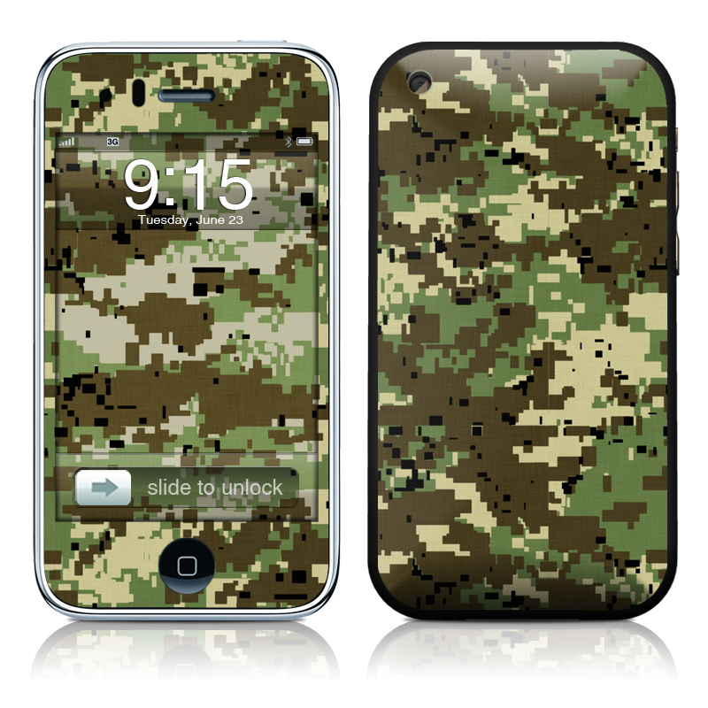 Digital Woodland Camo iPhone 3GS Skin