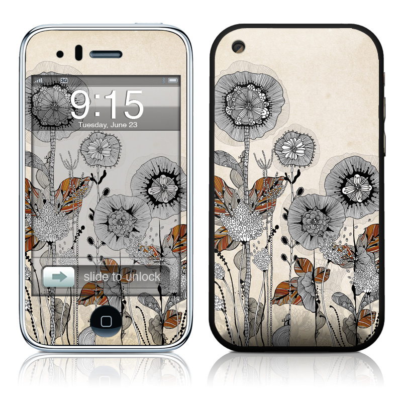 Four Flowers iPhone 3GS Skin