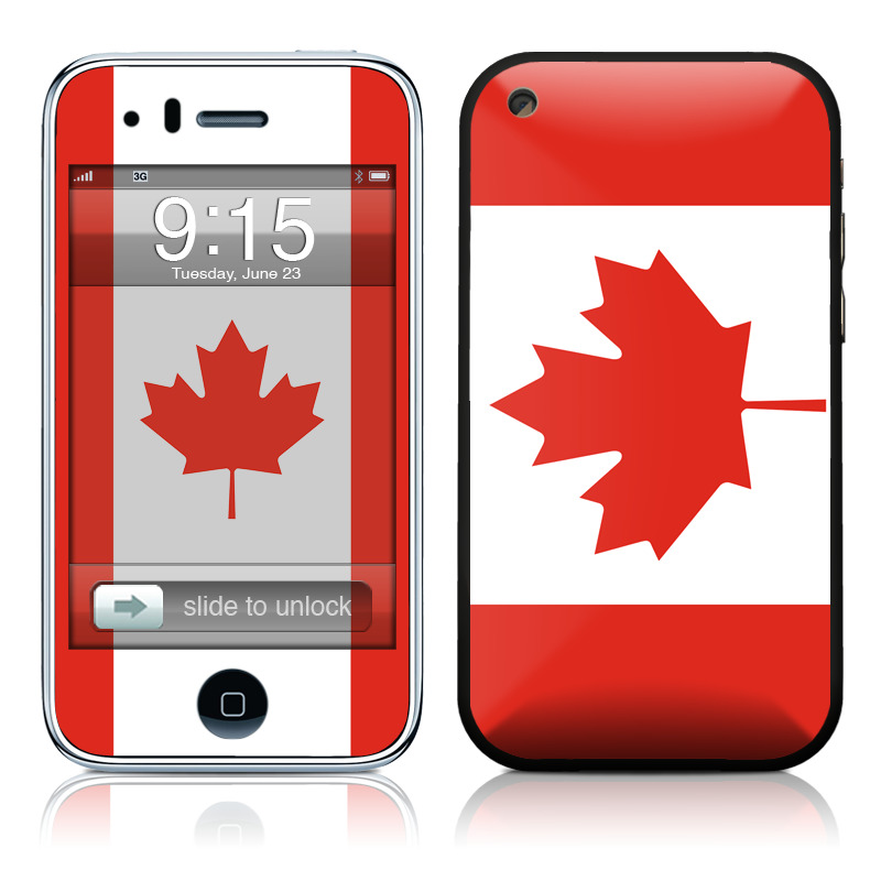 iPhone 3GS Skin design of Red, Maple leaf, Tree, Leaf, Woody plant, Flag, Plant, Plane, Red flag, Maple with red, white colors