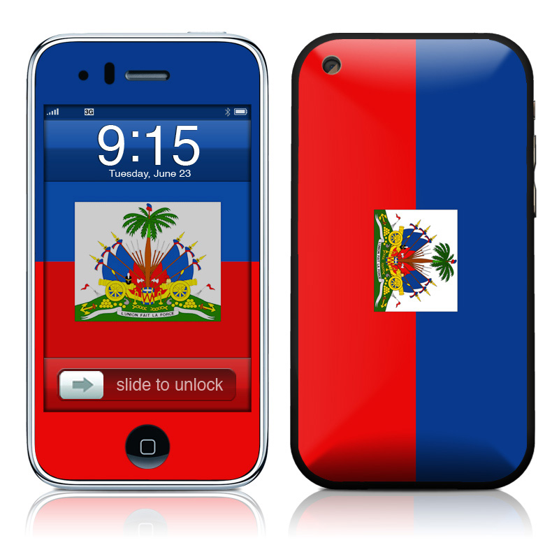 Haiti Flag iPhone 3GS Skin