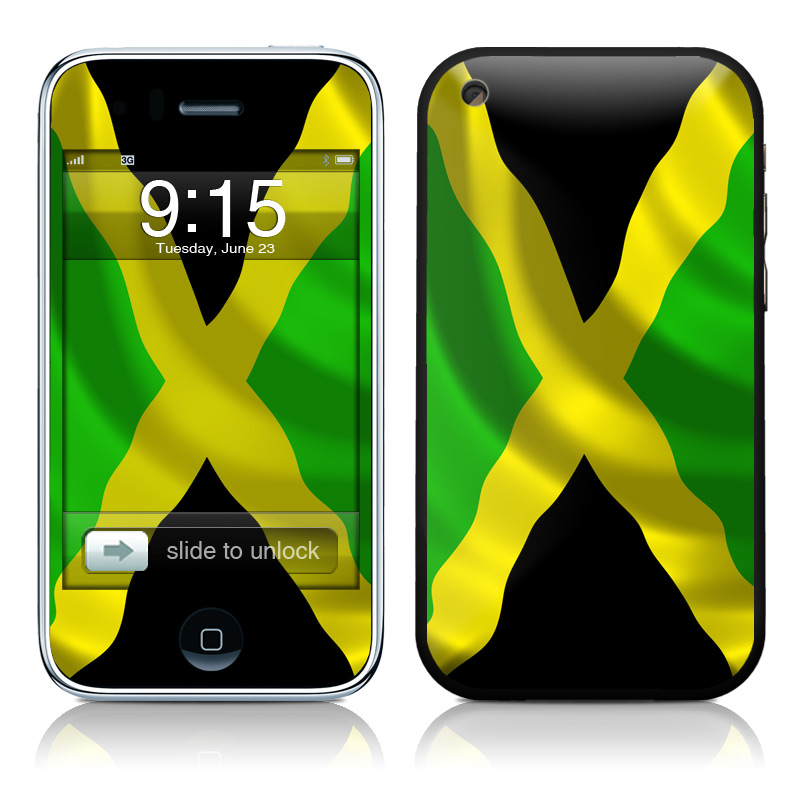 Jamaican Flag iPhone 3GS Skin