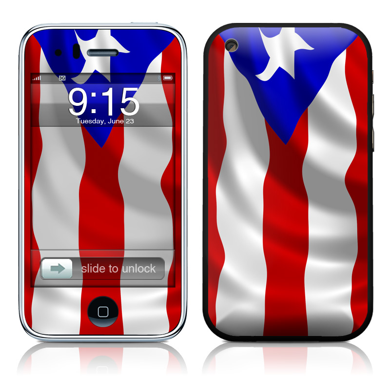 Puerto Rican Flag iPhone 3GS Skin