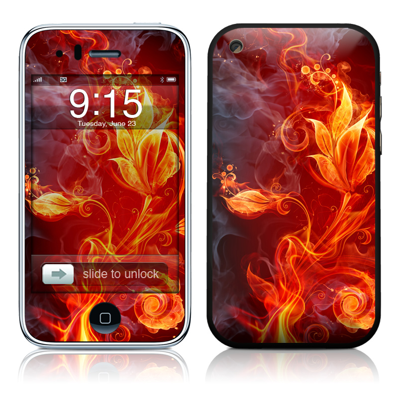 Flower Of Fire iPhone 3GS Skin