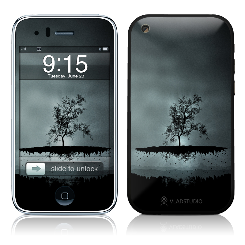 Flying Tree Black iPhone 3GS Skin