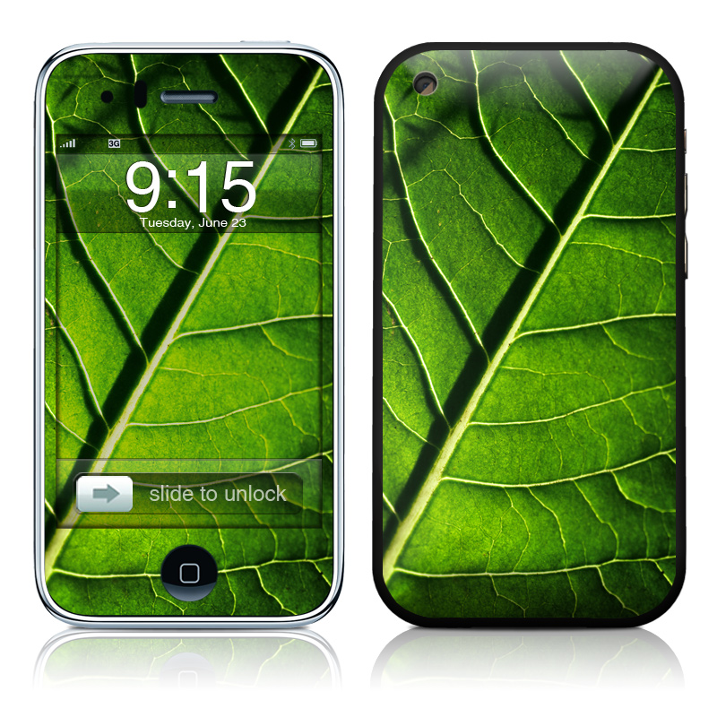 Green Leaf iPhone 3GS Skin