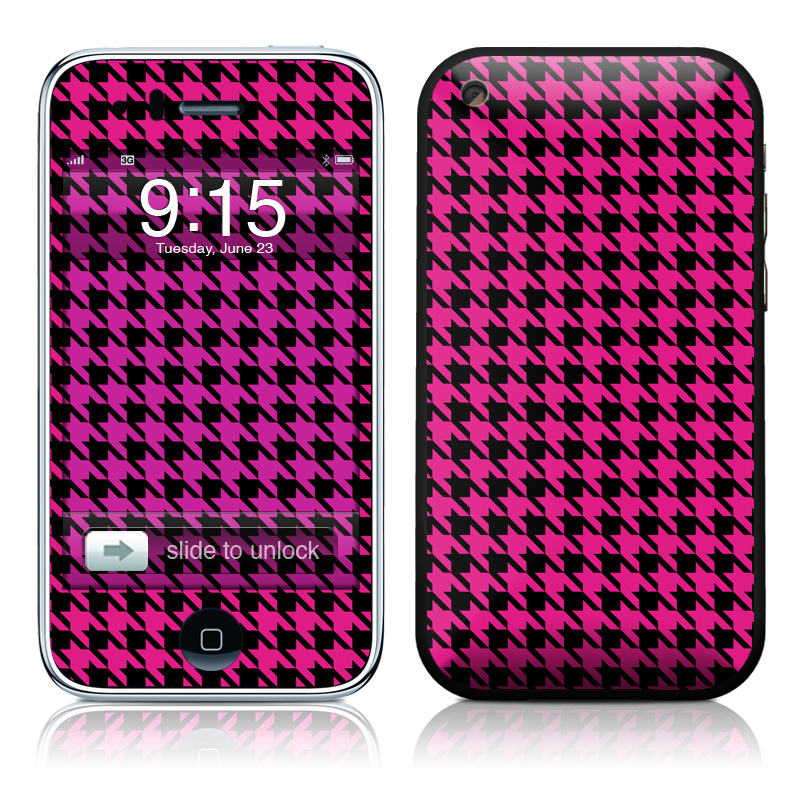 Pink Houndstooth iPhone 3GS Skin