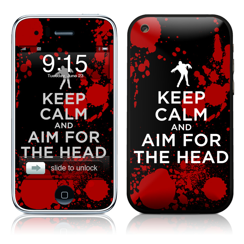 Keep Calm - Zombie iPhone 3GS Skin