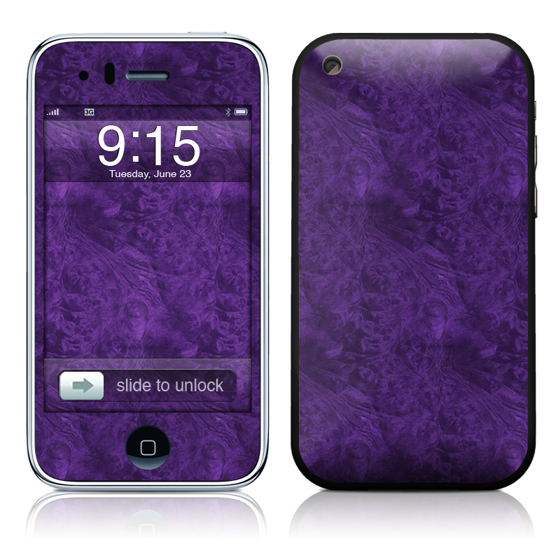 Purple Lacquer iPhone 3GS Skin
