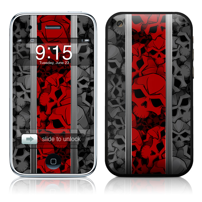 iPhone 3GS Skin design of Font, Text, Pattern, Design, Graphic design, Black-and-white, Monochrome, Graphics, Illustration, Art with black, red, gray colors