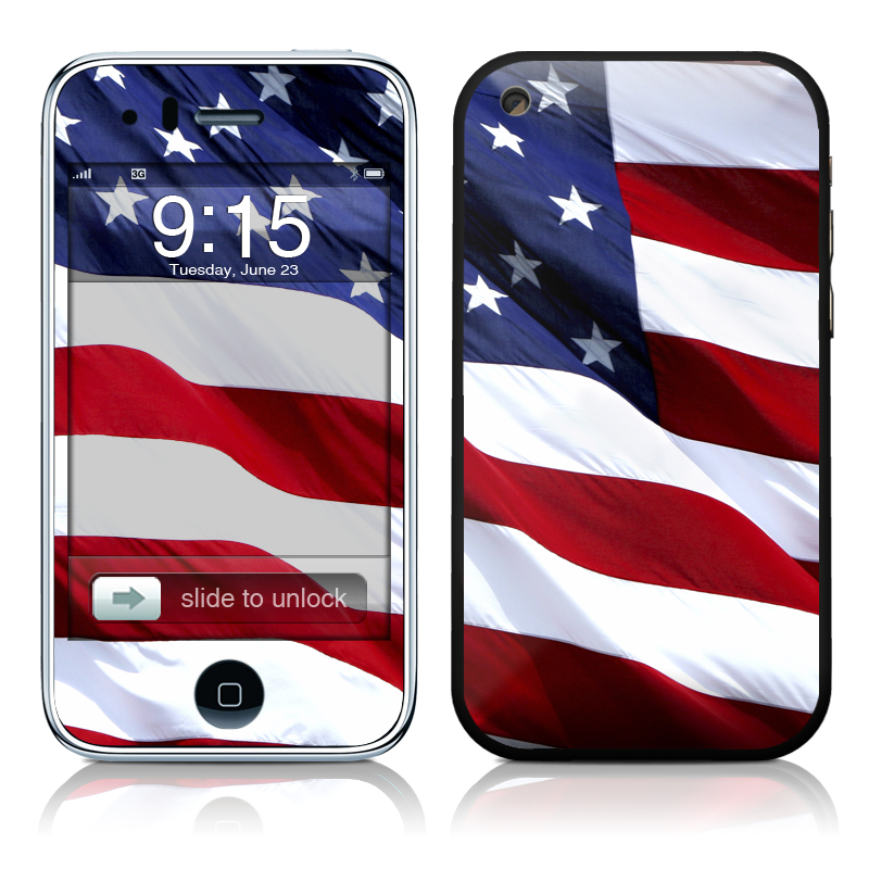 Patriotic iPhone 3GS Skin